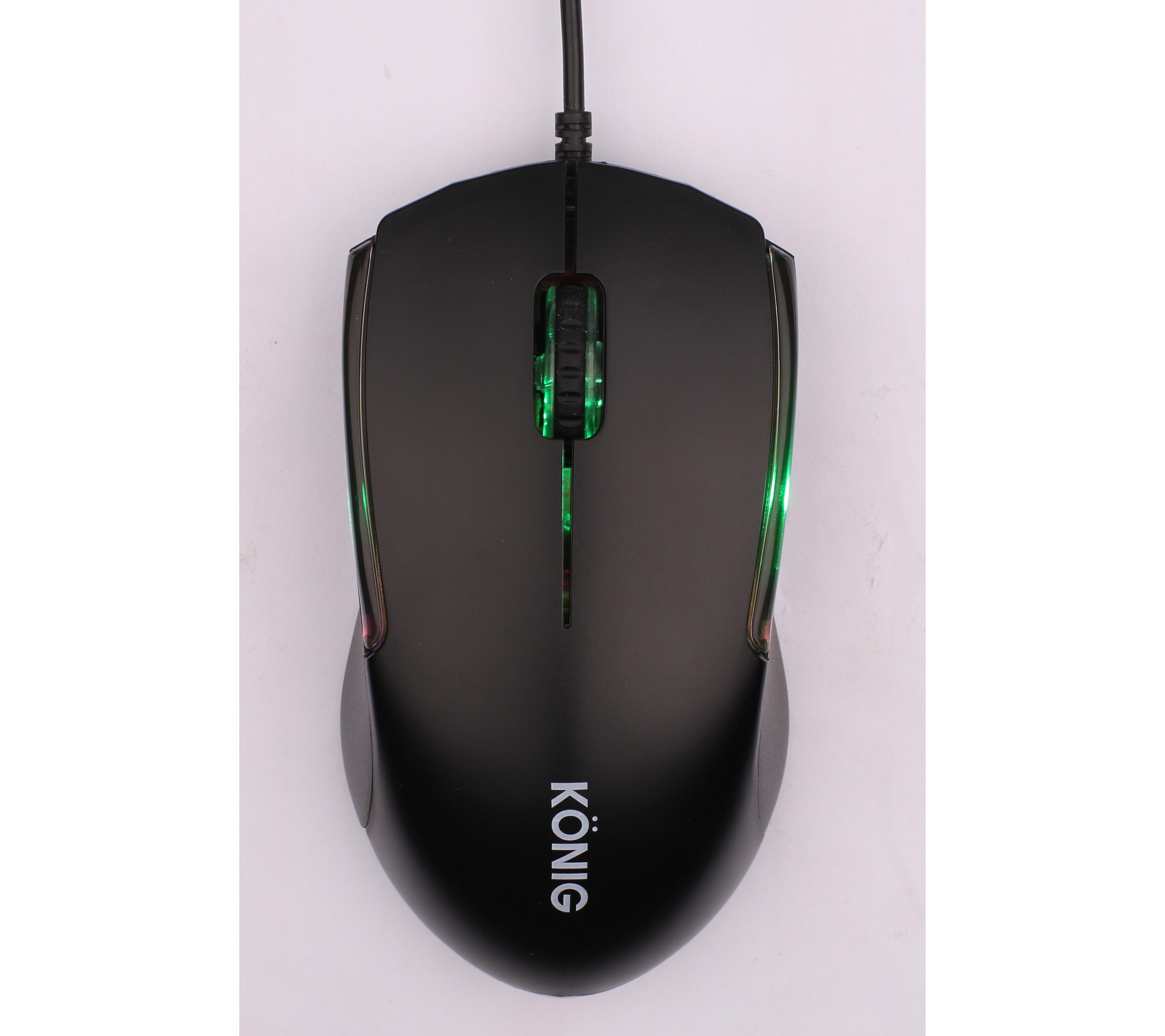 Chuột Game có dây KONIG KM18 màu đen